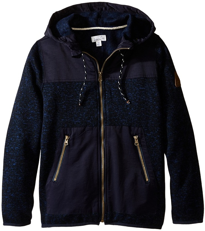 Pumpkin Patch Kids Spliced Hooded Jacket (Big Kids)