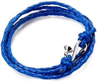 Mateo Bijoux Nail Wrap Rhodium Over Silver & Leather Quadruple Wrap Bracelet