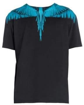 Marcelo Burlon County of Milan Blue Wing Print T-Shirt