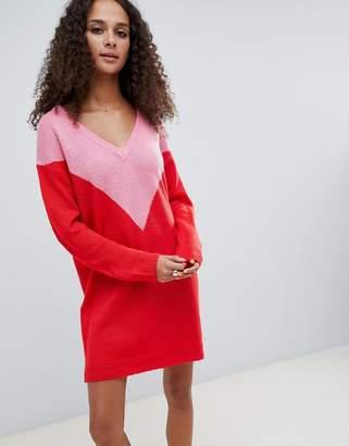 Brave Soul chevron sweater dress