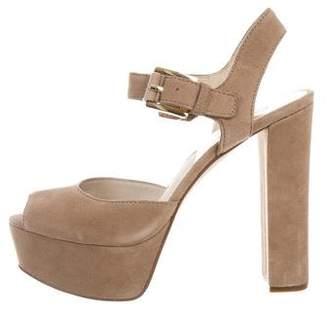 MICHAEL Michael Kors Suede Platform Sandals