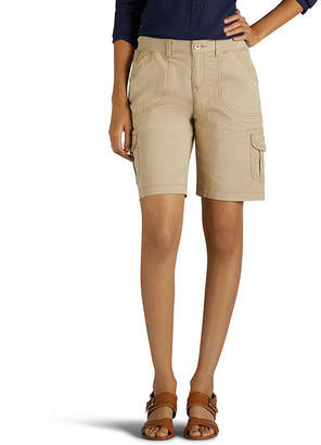 Lee Relaxed 7 1/4 Relaxed Fit Poplin Bermuda Shorts-Petite