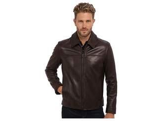 Cole Haan Smooth Lamb Shirt Collar Jacket Men's Jacket
