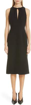 Altuzarra Split Neck Sleeveless Midi Dress