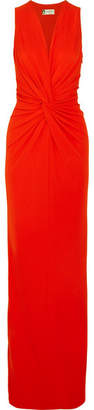 Lanvin - Twist-front Jersey Gown - Red $2,030 thestylecure.com