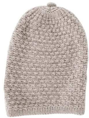 Inverni Merino Wool Knit Beanie Beige Merino Wool Knit Beanie