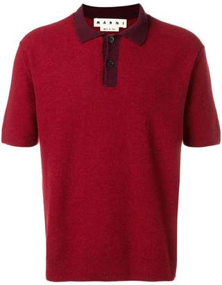 Marni knitted polo shirt