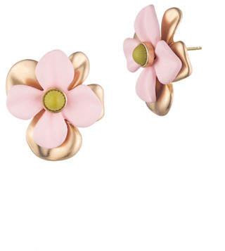 Trina Turk Super Bloom 14K Goldplated Oversized Flower Stud Earrings