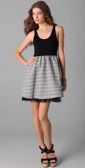 Alice + Olivia Ginessa Bubble Hem Dress