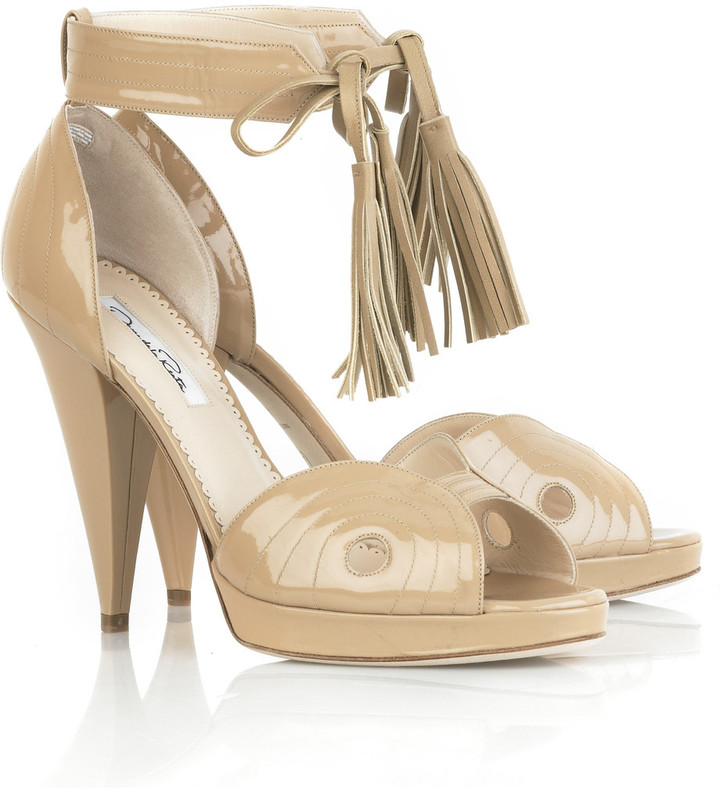 Oscar de la Renta Patent leather sandals