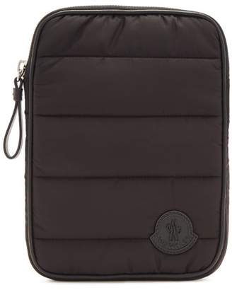 Moncler Quilted Ipad Case - Mens - Black