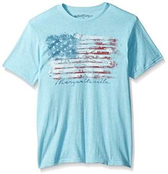Margaritaville Men's Short Sleeve American Paradise Flag T-Shirt