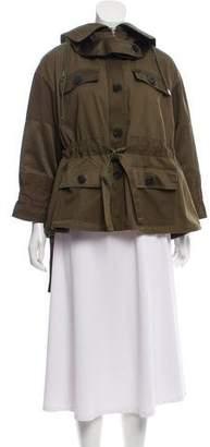 Alexander McQueen Hooded Zip Up Jacket
