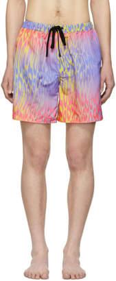 Double Rainbouu Multicolor Champagne Supernova Night Swim Shorts