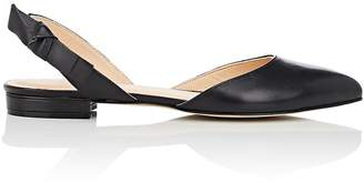 Barneys New York WOMEN'S LEATHER SLINGBACK FLATS