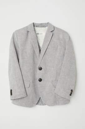 H&M Textured-weave Blazer - Gray