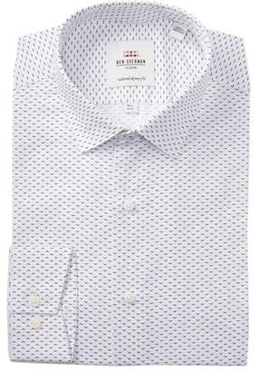 Ben Sherman Dobby Print Tailored Slim Fit Dress Shirt