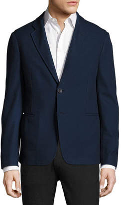 Giorgio Armani Pique Knit Soft Jacket, Navy
