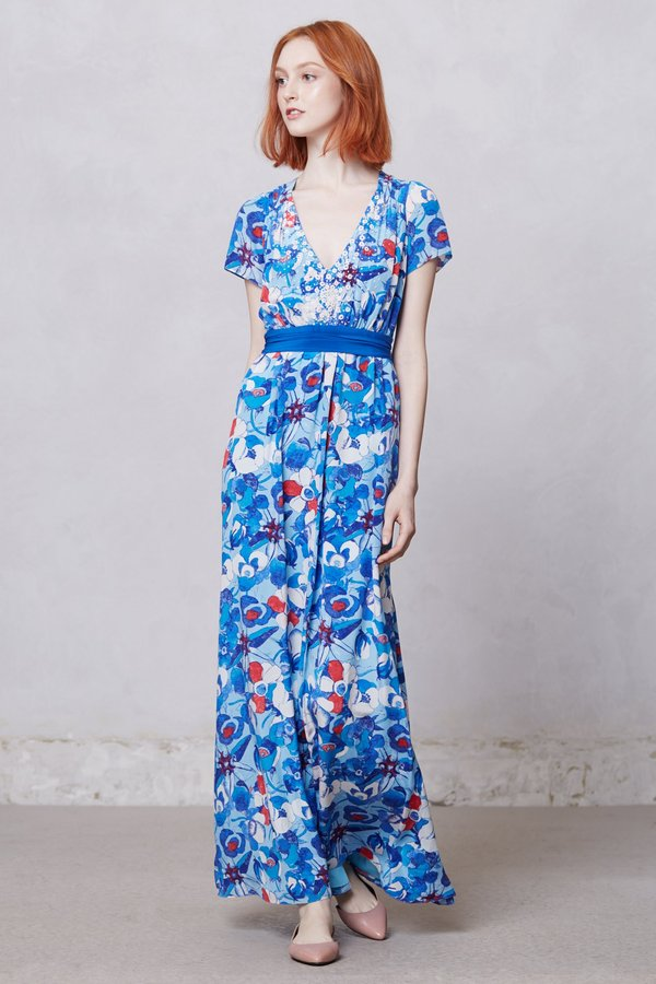 Arabella Blue Poppy Dress