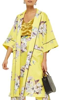 Topshop Heron Print Kimono