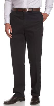 Savane Men's Flat Front Wrinkle Free Twill