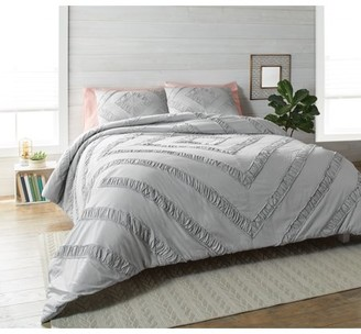 Better Homes & Gardens Better Homes and Gardens 3 Piece Ruched Diamond Comforter Bedding Set