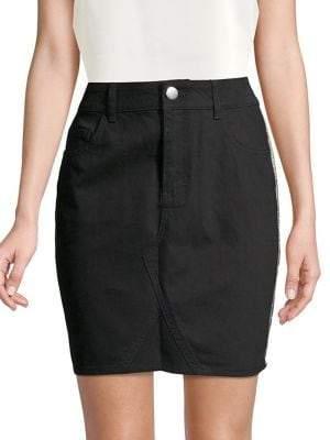 Dorothy Perkins Side Stripe Cotton Mini Skirt