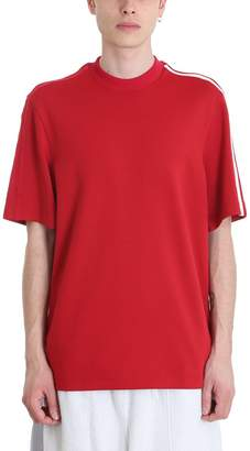 Y-3 Red Cotton T-shirt