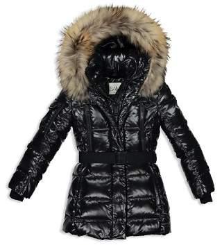 SAM. Girls' Millennium Fur-Trimmed Belted Down Jacket - Big Kid
