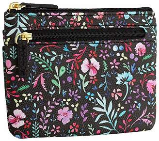 Buxton Enchanted Floral RFID Pik-Me-Up Large I.D. Coin/Card Case