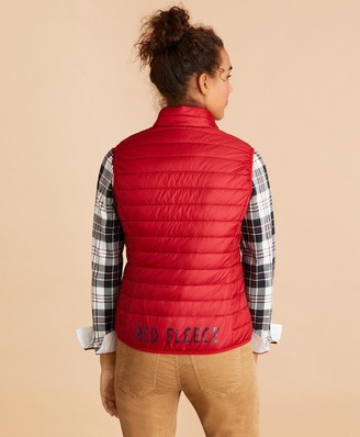 Brooks Brothers Logo-Graphic Puffer Vest