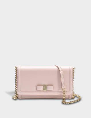Salvatore Ferragamo Ginny Mini Bag in Light Pink Score Leather