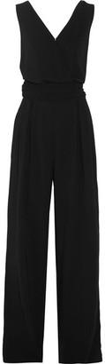 Maison Margiela - Wrap-effect Crepe Jumpsuit - Black $1,895 thestylecure.com