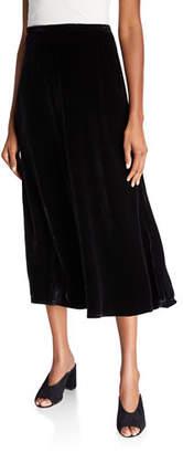 Eileen Fisher Velvet A-Line Side-Slit Skirt