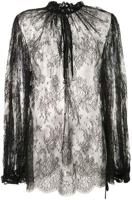 Alexander McQueen sheer lace blouse