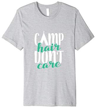 Funny Summer Camp Hair Don't Care Premium T-Shirt