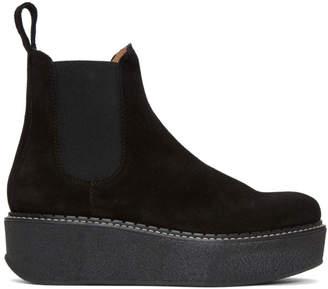Flamingos Black Suede Gibus Platform Boots