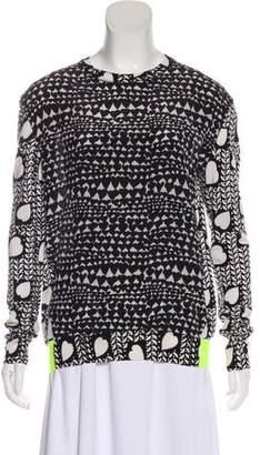 Stella McCartney Printed Virgin Wool Silk-Blend Sweater