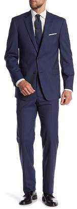 Tommy Hilfiger Vassar Chalk Navy Pinstripe Notch Lapel 2-Piece Suit