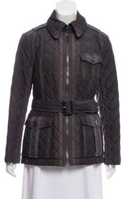 Burberry Printed Quilted Zip-Up Jacket