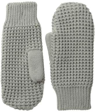 Hat Attack Waffle Stitch Mitten with Lining Liner Gloves