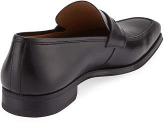 Magnanni Walden Leather Slip-On Loafer, Black
