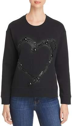 Kenneth Cole Embellished Piqué Sweatshirt