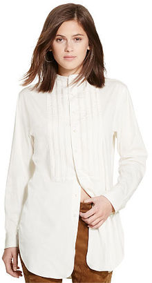 Polo Ralph Lauren Pleated-Bib Cotton Tunic $185 thestylecure.com