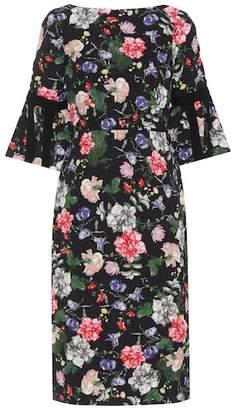 Erdem Alexandra floral matelassé dress