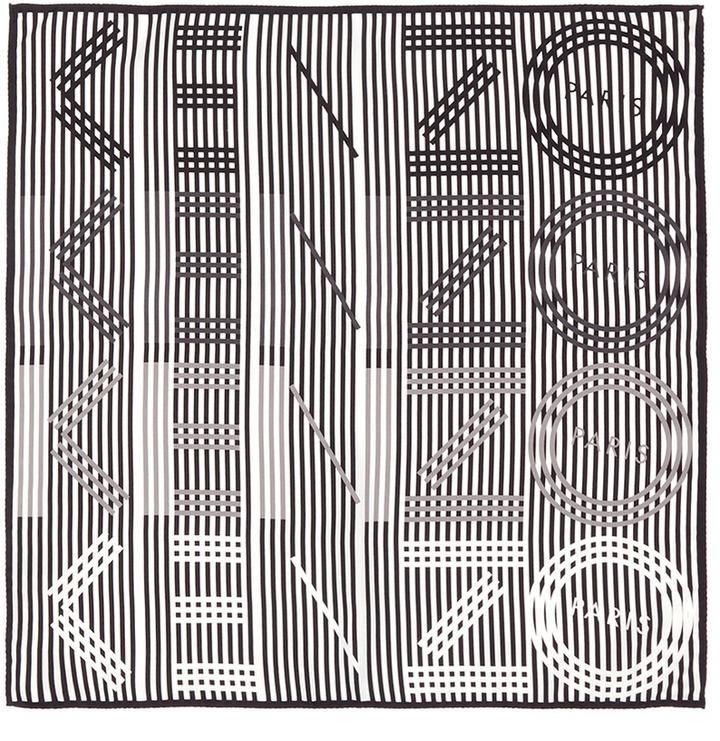 KenzoKENZO 'Graphic KENZO' silk scarf