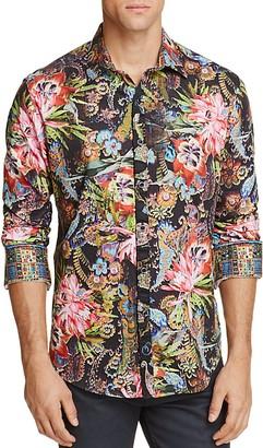Robert Graham Himachai Floral Classic Fit Button-Down Shirt $268 thestylecure.com