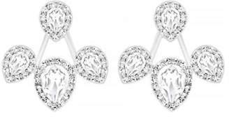 Swarovski Silver Tone Crystal Stud Earring