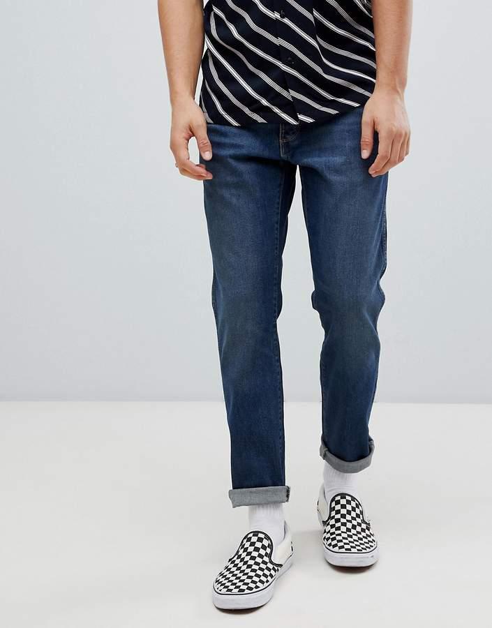 Wrangler Slider Tapered Jeans Indigo Wit