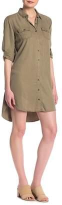 Sneak Peek Denim Button Down Tencel Shirt Dress